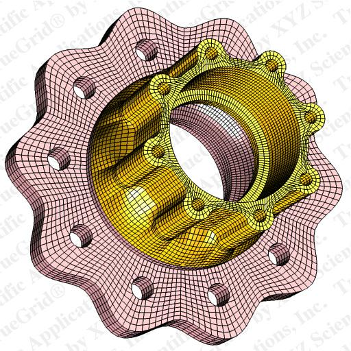 finite element mesh of a wheel hub